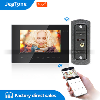 цена на Tuya Smart App WiFi 7 Inch WiFi Video Door Phone Intercom System with AHD Wired Doorbell Camera Remote Unlock Motion Detection