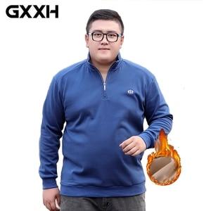 Image 2 - 2020 Winter Fleece Polo Shirt Men Plus Size 4XL 5XL 6XL Polo Men Brand High Quality Fat Guy Clothes Thick Warm Cotton Polo Man
