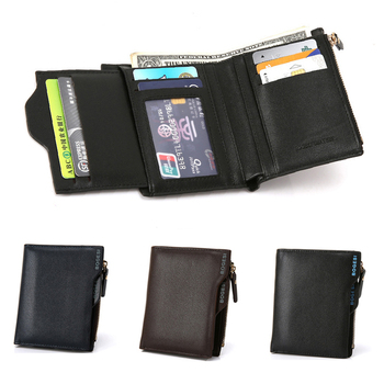 2020 Men Small Fashion PU Leather Short Design Purse With Photo Credit Card Holder Case Coin Wallet Clutch men wallet leather credit card photo holder billfold purse business clutch dec07