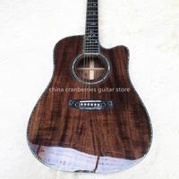 2020,TOP QUALITY,KOA wood acoustic guitar,real abalone,41'' D model,cutaway guitar,fishman pickup,Free Shipping