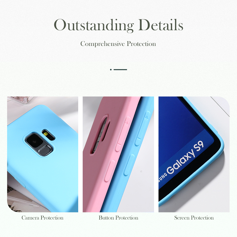 Candy Case For Samsung A50 A10 A30 A40 A60 A70 A2 Core A20e S8 S9 S7 Edge M10 M20 M30 Note 10 Pro 9 8 A6 Plus A9 A7 2018 Cases in Fitted Cases from Cellphones Telecommunications