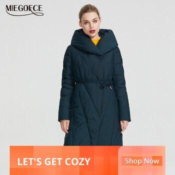 MIEGOFCE 2019 zima długi Model damska kurtka płaszcz ciepłe moda kobiety parki wysokiej jakości Bio w dół płaszcz damski marka nowy projekt