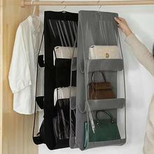 6 карманная подвесная сумка-Органайзер для гардероба, прозрачная сумка для хранения, дверная настенная прозрачная сумка для обуви, сумка-вешалка