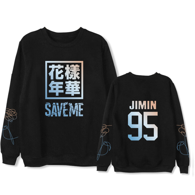 BTS Hoodie Bulletproof Boys Related Products The Mood For Love Saveme Celebrity Style Round Neck Sweater Men And Women Plus Velv