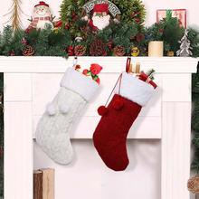 OurWarm di Grandi Dimensioni Di Natale Calza della Befana Babbo natale Calzino Plaid di Tela Titolare Regalo di Natale Albero Di Natale Decorazione di Nuovo Anno del Regalo Della Caramella Borse