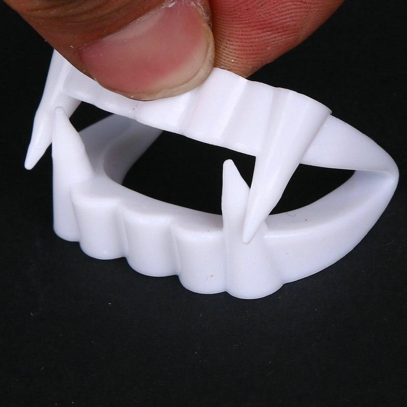 1/2 шт новая игрушка вампир поддельные зубы для Хэллоуина вечерние реквизит маскарад Косплей Макияж Смешные зубные протезы Бесплатная доста...