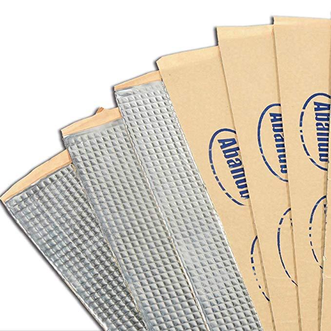 Abahub 80mil 36 pieds carrés butyle tapis insonorisant voiture porte isolation phonique tapis d'amortissement-lot de 34