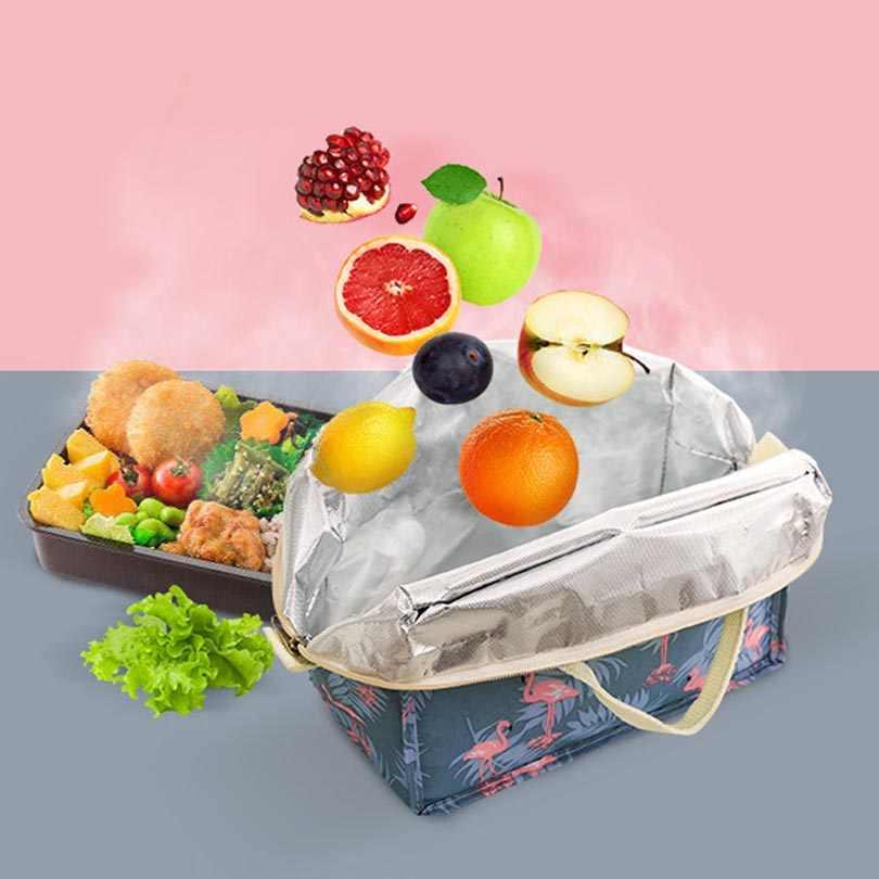 Portátil isolado térmico refrigerador bento lancheira piquenique saco de armazenamento bolsa comida almoço sacos de isolamento organizador tote acessórios