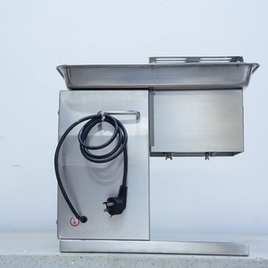 Image 3 - 상업 스테인레스 스틸 고기 슬라이서 큐브 고기 다진 기계 Flaky 고기 절단 기계 전기 고기 슬라이서 커터 220V