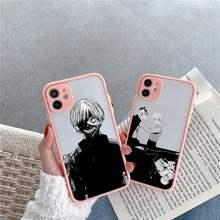 Tóquio ghoul japão suave casos de telefone fosco transparente para o iphone 12 mini 11 pro xr xs max 7 8 plus x capa traseira