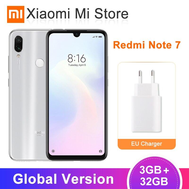 Global Version Xiaomi Redmi Note 7 3GB 32GB Smartphone Snapdragon 660 Octa Core 48MP Dual Camera 6.3 19.5:9 Full Screen 4000mAh