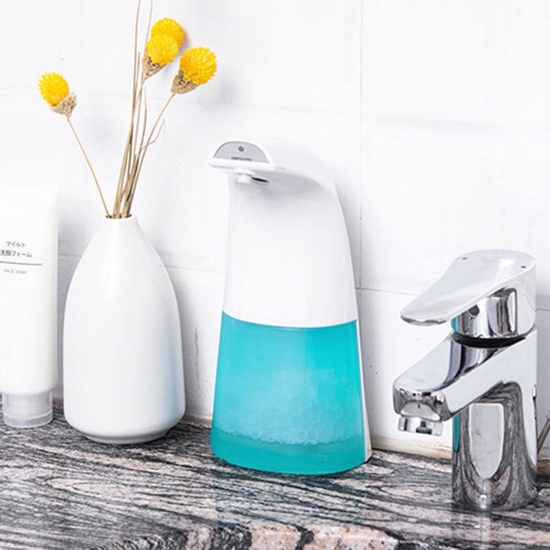 Hb733fce7a80a4cb78da0130f4a1d3556W 250ml Automatic Induction Soap Dispenser Free Pressing Infrared Sensing Intelligent Soap Dispenser for Kitchen/Bathroom