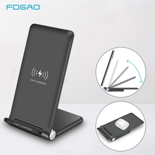 Беспроводное зарядное устройство для IPhone 11 Pro XS XR X 8 Samsung S10 S9, 15 Вт