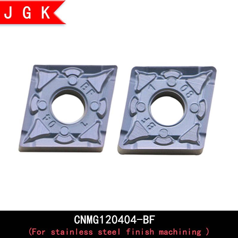 CNMG1204 Rhombus 80 degree insert <font><b>CNMG120404</b></font> CNMG120408 BF pattern insert CNMG 1204 04 08 for stainless steel finish machining image