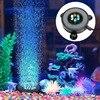 Nowy Led akwarium Air Bubble światło do akwarium kurtyna powietrzna Bubble Stone Disk z 6 kolorowymi diodami Led