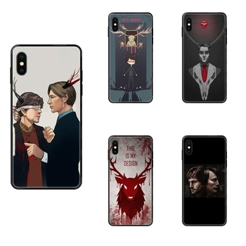 Graham Hannibal Mads Mikkelsen Special For iPhone 11 12 Pro XS Max X 8 7 6s Plus 5 SE 11 12 XR SE 2020 Black Soft TPU Live Love image