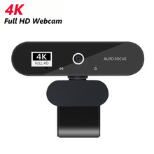 Câmera da web do foco automático completo de hd mini 4k 2k 1080p câmera da web usb pc cam com micphone para a conferência de chamada de vídeo da transmissão ao vivo