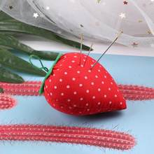 Strawberry Jarum Pin Bantal Cross Stitch Jahit Penyimpanan Pemegang Bantal Pin Aksesori(China)