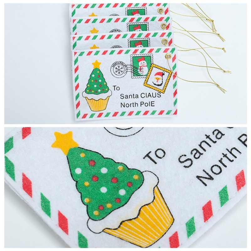 Christmas Envelope Candy Bag Card Bag Christmas Tree Hanging Christmas Supplies Home Garden Birthday Card