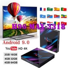 Stable Media-Player Tv-Box Android-Box H96 MAX RK3318 4GB Ram 32 GB/64 GB Rom 4K USB3.0 H.265 support netflix youtube tv boxing цена