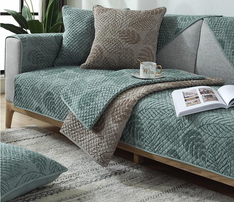 Living Room Sofa Cover  Cotton Couch Cover Jacquard Nordic Sofa Cushion Four Seasons Sofa Towel L-shaped Sofa Protective Case