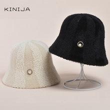 Модная зимняя шапка с имитацией норкового волоса для женщин