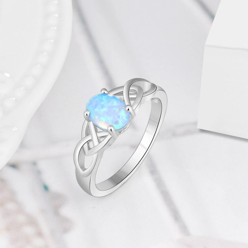 925 de plata esterlina azul Oval anillo de ópalo Vintage anillo de anillos de compromiso de boda para las mujeres joyería fina (Lam Hub Fong) 2018 Solitaire ring 100% solid 925 Sterling silver Jewelry 1.5ct Sona AAAAA Zircon Cz Anillos De Compromiso boda para mujeres