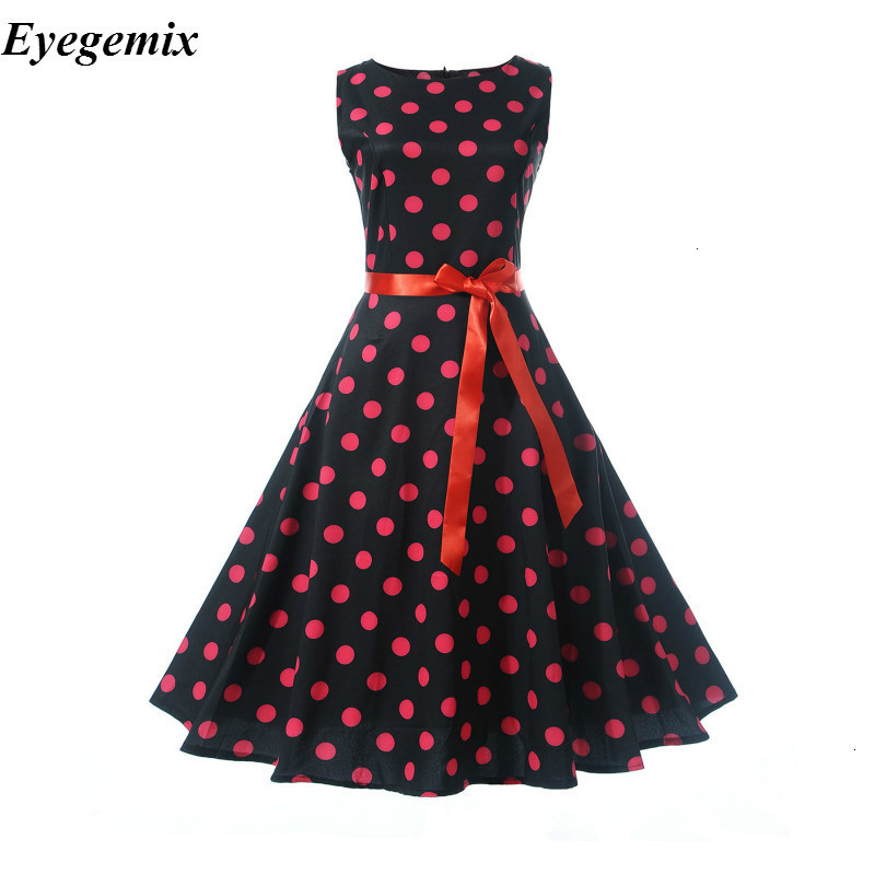 US $16.27 |Womens Jurken 2019 Casual Polka Dot Vrouwen Retro Vintage 50 s  60 s Jurk Gewaad Rockabilly Swing Pinup Plus size Party Dress on AliExpress  ...