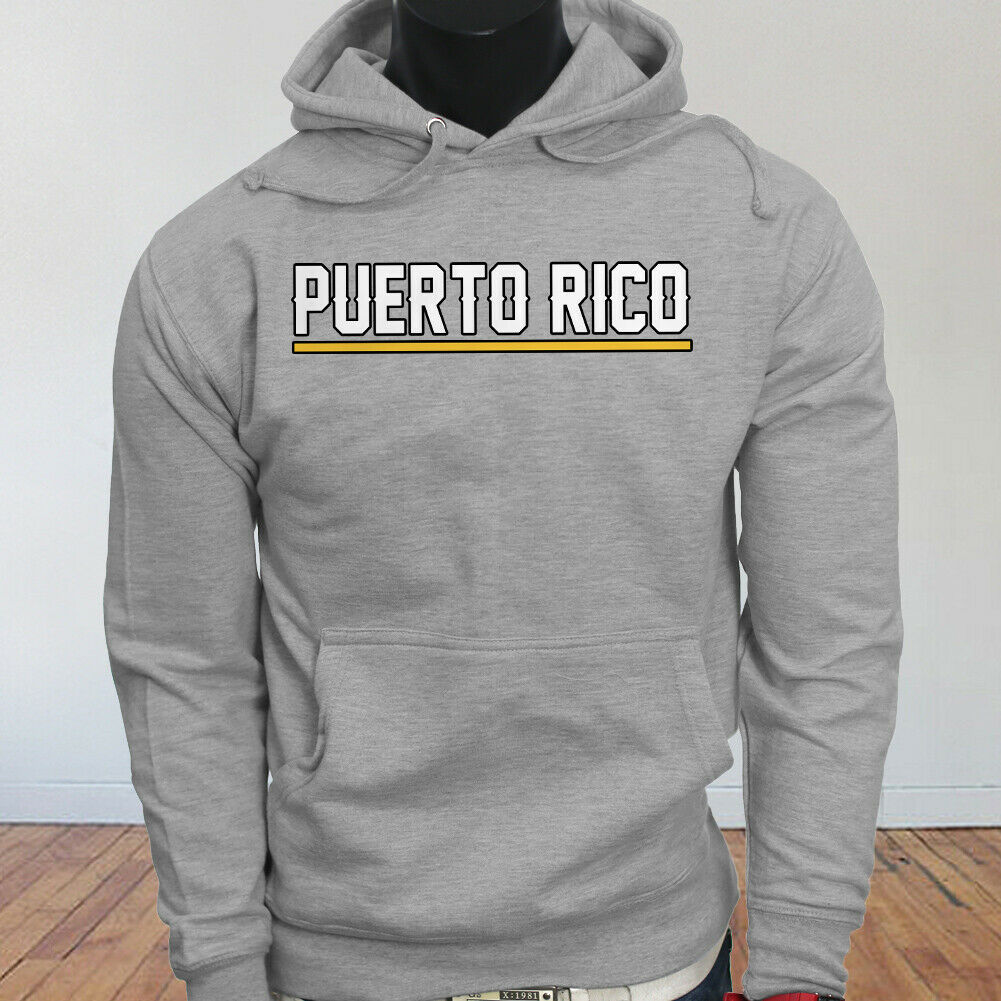 State City Travel Beach Music Puerto Rico Vacation Proud Mens Gray Hoodie men long sleeve gym jogger winter summer coat image