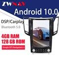 Автомобильный GPS-навигатор ZWNAV 4G128G PX6 Android 10 в стиле Тесла для Infiniti FX FX25 FX35 FX37 qx70, магнитола