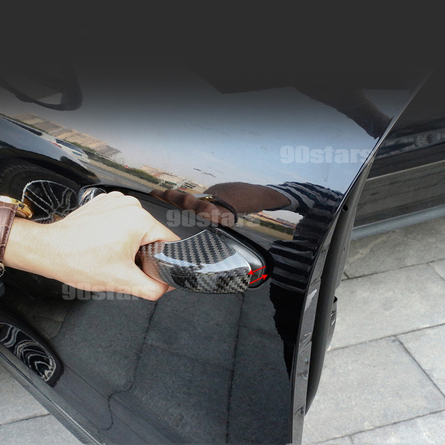 For Porsche 718 Cayenne Macan Panamera 2017 2018 2019 2020 Carbon Fiber Car Exterior Door Handle Cover Moulding Trim Car Styling 3
