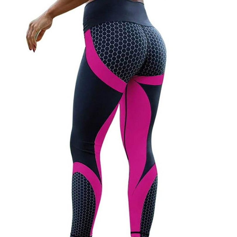 Fitness Leggings Digital Printed Mesh Pattern Leggings High Waist Slim Sport Leggings For Women