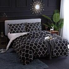 Черный и белый постельные принадлежности комплект роскошь сексуальный двойной одноместный Королева размер дети постельное белье пододеяльник 220x240 постельное белье подушка