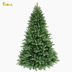 Teellook 1,2 m/3,6 m cifrado PE + material de PVC árbol de Navidad Año nuevo Hotel centro comercial decoración del hogar
