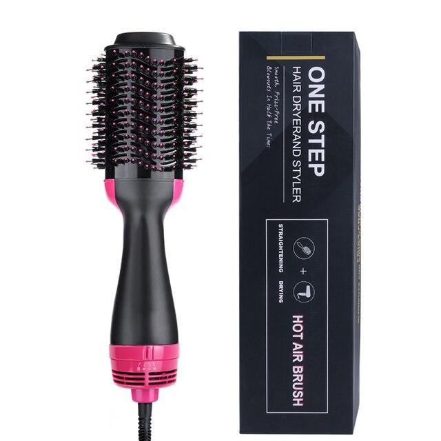 Professional One Step włosów na gorące powietrze szczotko suszarka volumizer 2 w 1 prostownica do włosów i lokówki lokówka elektryczna grzebień