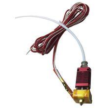 MK10 montajlı ekstruder sıcak sonu kiti için CR 10 CR 10S S4 S5 3D yazıcı 1.75mm 0.4mm memesi alüminyum ısıtma blok