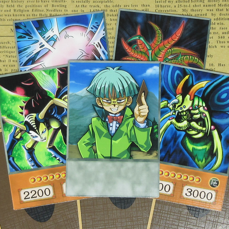 8pcs/set Weevil Underwood Anime Style Cards Yugioh DM Classic Villain Insector Haga Insect Card Great Moth Half-frosted Orica