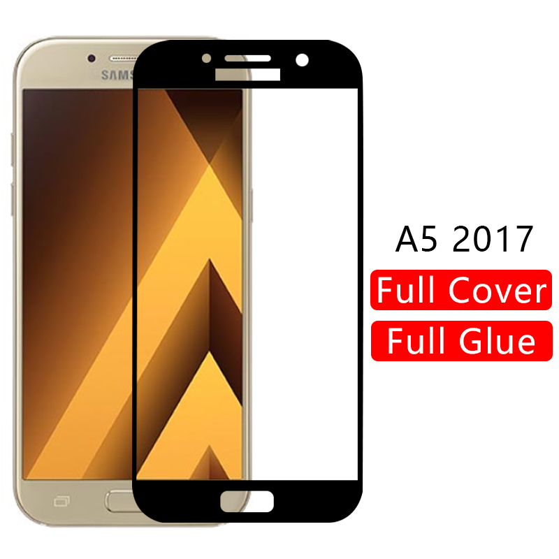 case for samsung a5 2017 cover tempered glass screen protector on galaxy a 5 5a a52017 protective phone coque 5.2 a520 original image