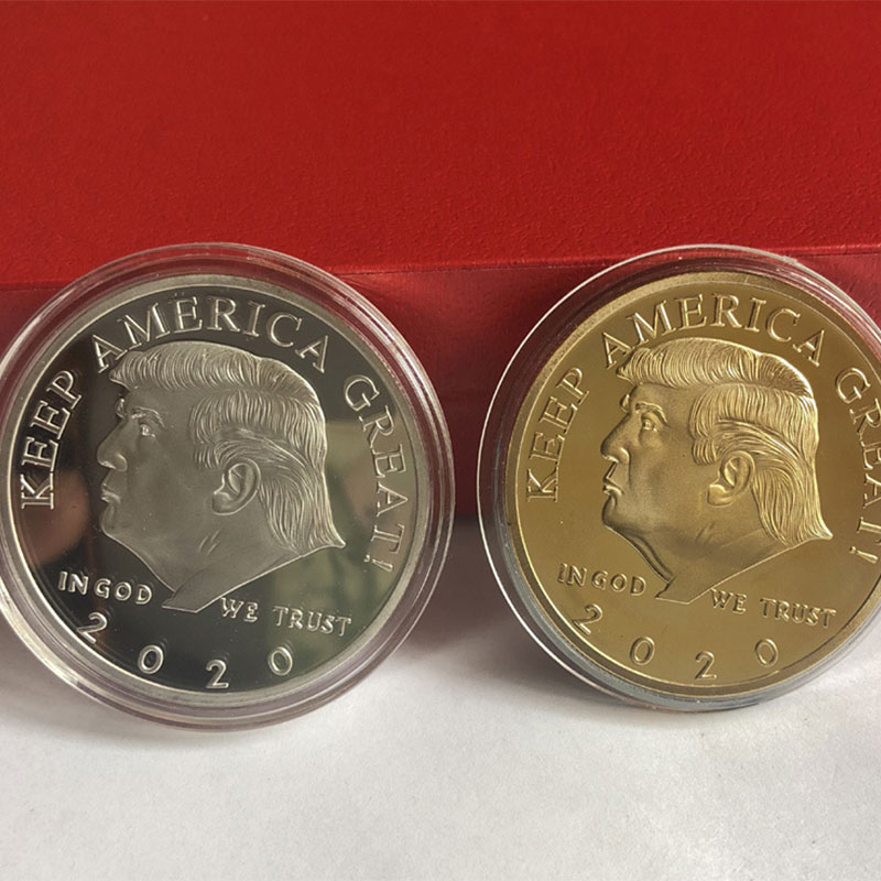 2020 President Donald Trump Gold/Silver Plated EAGLE Inaugural Golden Eagle Commemorative Novelty Coin