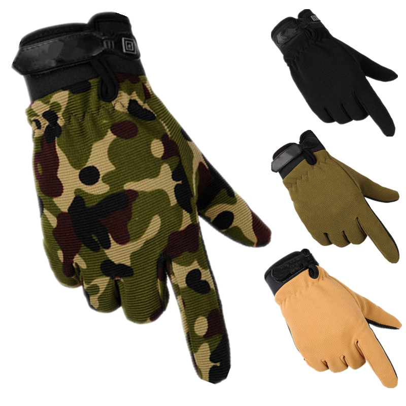 2020 Newly Camouflage Lightweight Tactical Gloves Men Women Military Army Bicycle Motocycle Driving Full Finger Men's Gloves