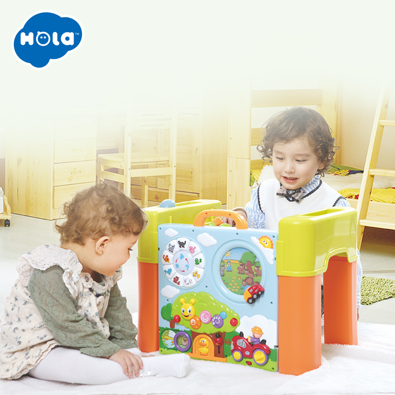6 In 1 Changing Function Kids Learning Activity Table With Quiz, Music, Lights, Shapes, Tools And IQ Exploration Game Toys Gift