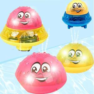 Baby Bath Toy Cartoon Light Music Electric Induction Sprinkler Ball Kids Baby Bath Pool Toy New for Children Swimming Party(China)