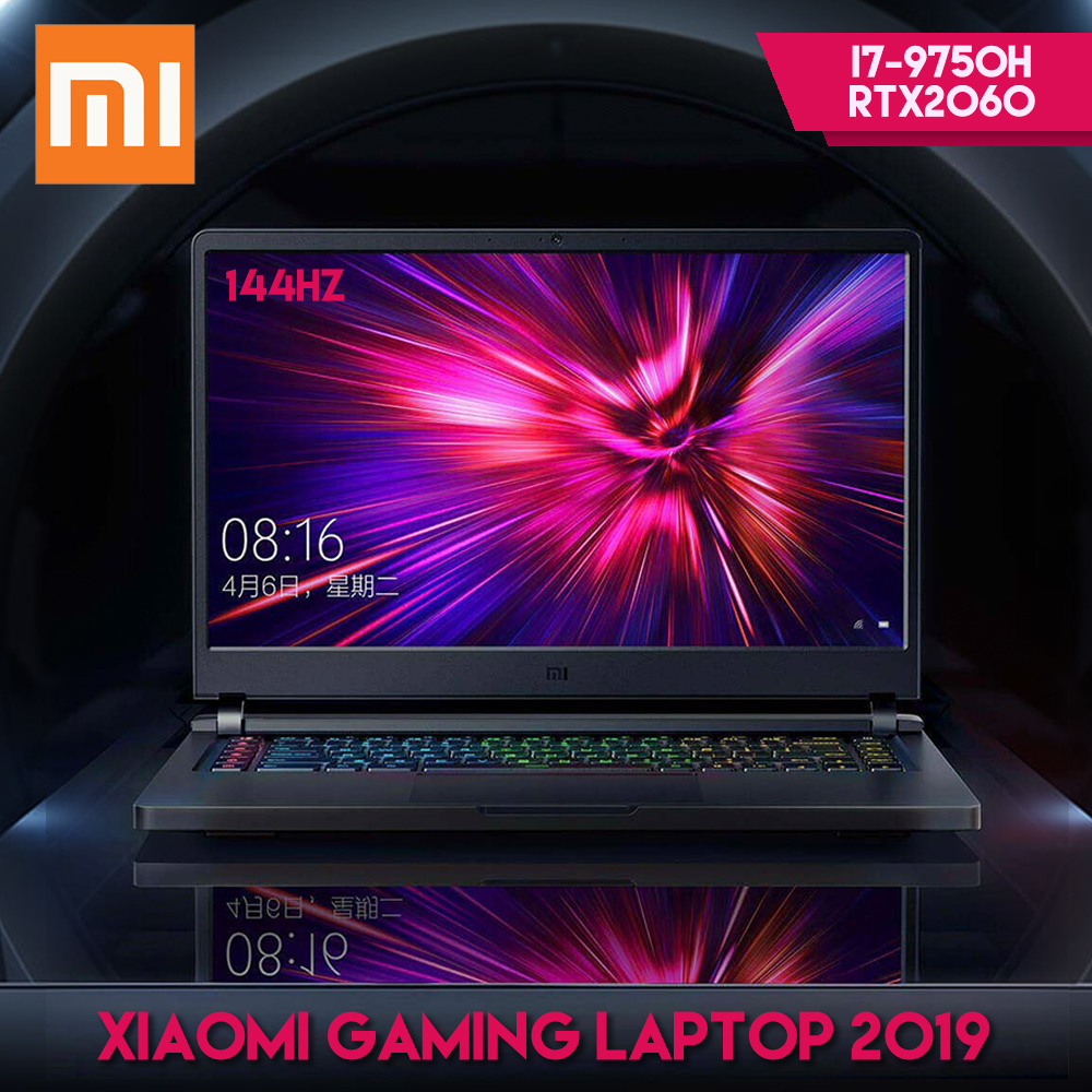 Original Xiaomi Mi Gaming Laptop 2019 Windows 10 Intel Core I7 - 9750H RTX 2060 16GB RAM 512GB SSD HDMI Notebook PC Bluetooth