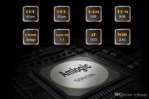 Image 3 - MX Pro 4K TV kutusu Amlogic S905W dört çekirdekli 1G 8G veya 2G 16G Android 7.1 Ultra 4K akışı IPTV 4K kutusu akıllı TV medya oynatıcı oyun
