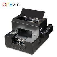 ONEVAN.6 color new multicolor digital flatbed direct jet a4 uv printer.Cheap small UV printer, free delivery to home in Europe