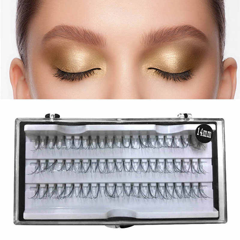 60 Pcs 12/14 Mm Make Individuele Cluster Wimpers Valse Wimpers Piekerige Make-Up Beauty Extensions Tools Mooie Decoratie