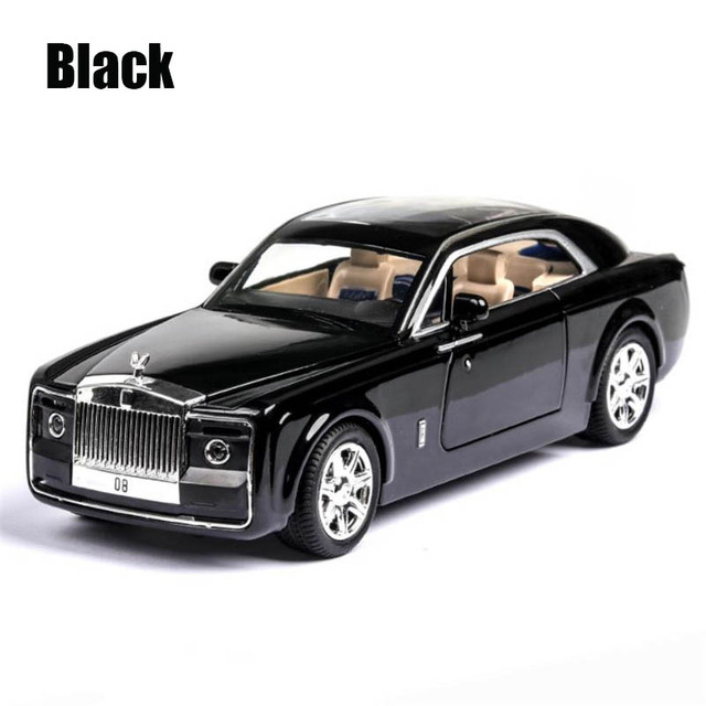 1/24 Diecasts & Toy Vehicles Rolls-Royce Sweptail Car Model With Sound&Light Collection Car Toys For Children Gift brinquedos