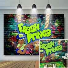 Свежий принц детский душ фон граффити стены хип хоп задний throwback