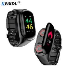 """Reloj deportivo 0,96 """"M1 AI reloj inteligente con auricular Bluetooth Monitor de ritmo cardíaco pulsera inteligente auricular inalámbrico de tiempo de espera largo"""