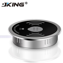 JKING Built in Desktop Qi Wireless Fast Charger 10W 7.5W or 5W USB-A Type-C 15W Quick Charger 3.0 Embedded Caricabatter Tipe C